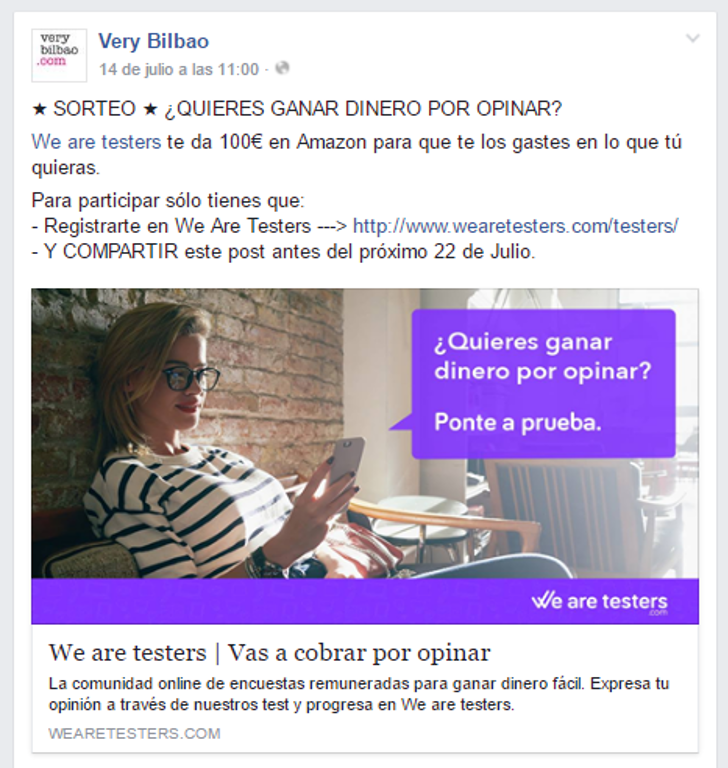 consurso very bilbao 100 € amazon