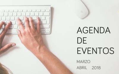 Agenda de eventos de investigación de mercados y marketing: marzo y abril 2018
