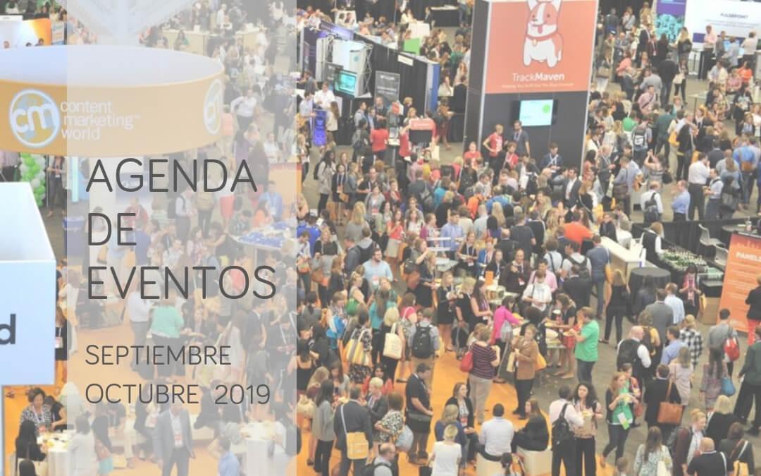 Agenda de eventos de marketing, investigación e innovación: septiembre y octubre de 2019